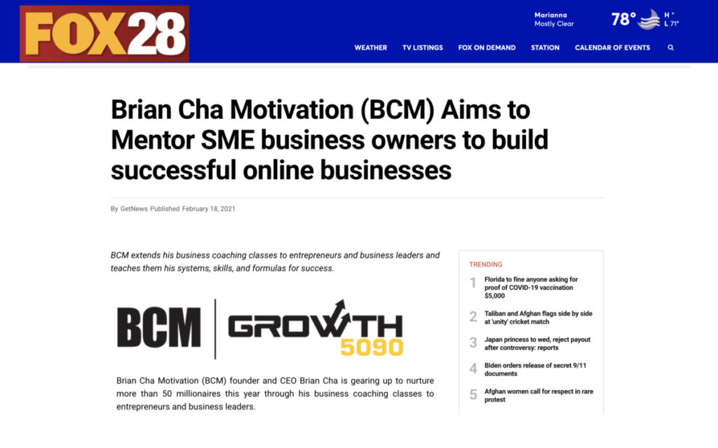 Image of Article 2 on Brian Cha Motivation